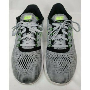 Nike Men's Free RN Running Gray Green Black Sz 9